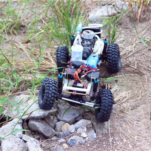 Level 15 Methanol Engine DIY 4WD Electric Generator with Reverse Function 2.4G RC Off-road Climbing Car Model(Has been installed)