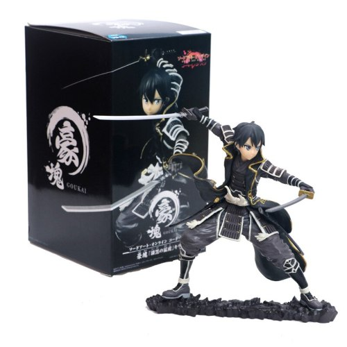 Anime SAO Sword Art Online Kirigaya Kazuto Kirito Collectible Figure Models Toys Gifts 17cm