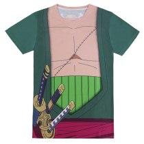 One Piece Men Roronoa Zoro 3D T Shirt Luffy Burukku Short sleeve Carnival Clothes