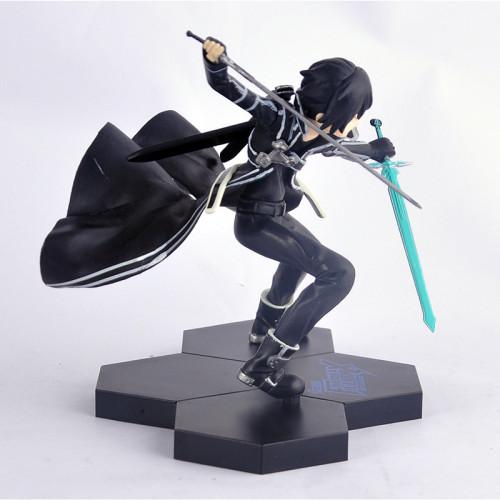 Sword Art Online Figure Kirito Kirigaya Kazuto Action Figure Fighting Climax Toy 15cm