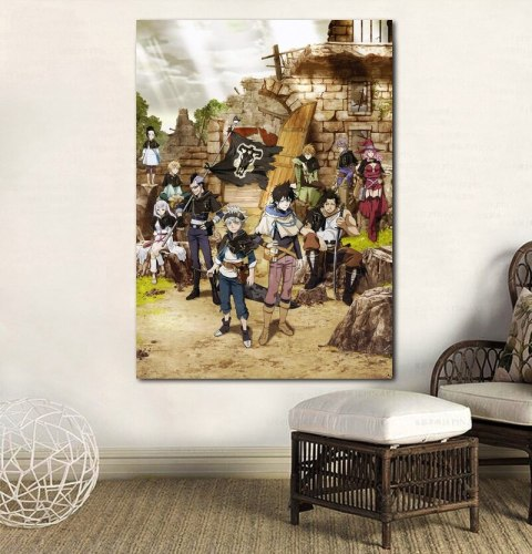 Black Clover Poster Canvas Print Anime Art Home Wall Decorative No Frame