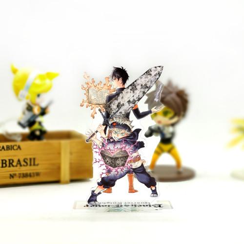 Black Clover Asta Yuno acrylic stand figure model plate holder cake topper anime jump