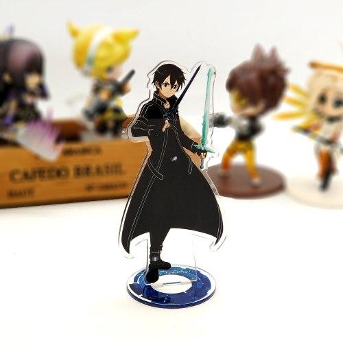 Love Thank You Sword Art Online SAO Kirito Kazuto Asuna acrylic stand figure model double-side plate holder cake topper anime