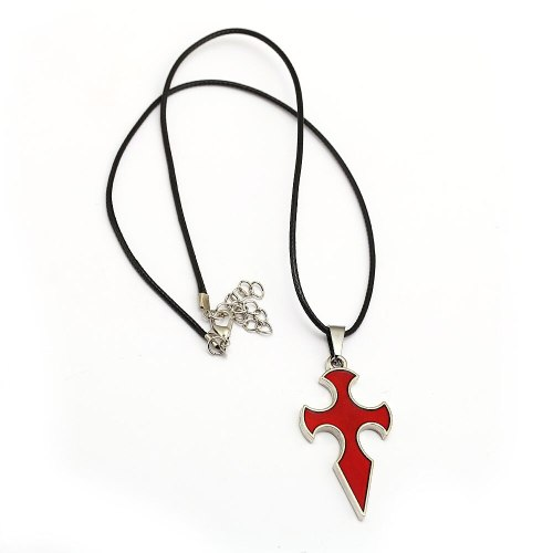 SAO Sword Art Online Necklace Knight of Blood Cross Pendant Metal Rope Chain Choker Necklaces Women Men Charm Gifts Jewelry