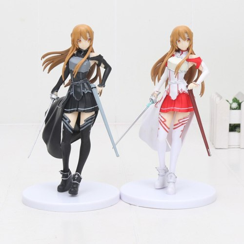 Anime SQ Sword art online Asuna (White Color Ver.) Collection Action Figure Model Toy 18cm