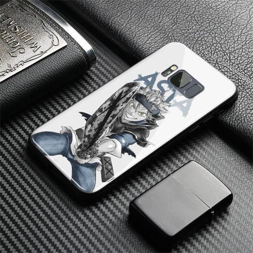 Black Clover Anime Coque Tempered Glass Soft Silicone Phone Case Shell For Samsung Galaxy S7 Edge S8 S9 S10 e Plus Note 8 9