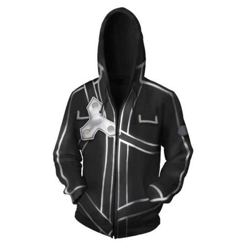Sword Art Online Sweatshirt jacket Cosplay Superm Pullover Hoodies Men Sweatshirt Long Sleeve Jacket  streetwear