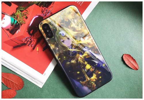 Sword art online alicization UW Tempered Glass Soft Silicone Phone Case For Apple iPhone 6 6s 7 8 Plus X XR XS MAX