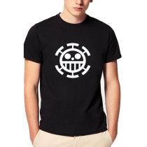 ONE PIECE anime Trafalgar Law T-shirt Men Cosplay Casual Short Sleeve Personalized Tshirt Cotton short sleeve tshirt homme