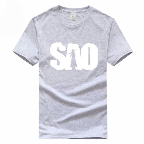 Anime Sword Art Online SAO Funny Euro Size 100% Cotton T-shirt Summer Casual O-Neck Tshirt For Men And Women GMT019