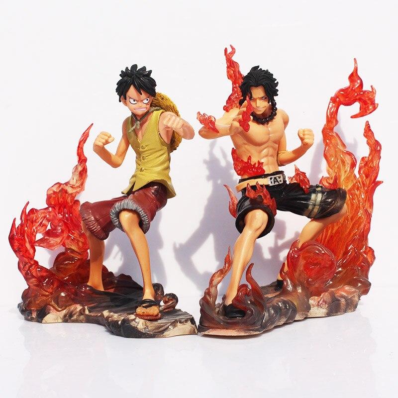 One Piece Anime Luffy /& Ace Brotherhood Figurine Set