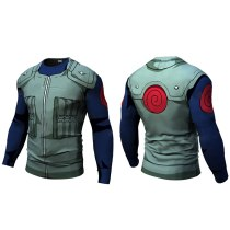 New Fitness Compression will will t shirt Men naruto armor naruto Bodybuilding Long Sleeve 3d t shirt Crossfit Tops Shirts