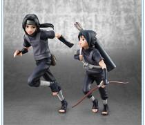 2pcs/set 18cm Naruto Uchiha Sasuke Uchiha itachi action figure PVC toys collection doll anime cartoon model for friend gift