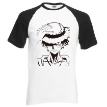 2019 new summer Anime One Piece Luffy t shirt 100% cotton high quality raglan men t-shirt casual loose fit top tees for fans