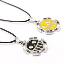 Hot Anime One Piece Necklace 2Color Surgeons Trafalgar Law Metal Pendant Collar Choker Male Women Gift Fashion Accessory Cospaly