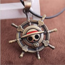 ONE PIECE MONKEY D LUFFY Skull Pendant Necklace Pirate Flag Metal Necklace cosplay Anime Gift