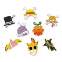 One piece anime alloy brooch Luffy straw hat shape Ace fashion personality novelty Denim Coat Shirt men women Pin Badge Jewelry
