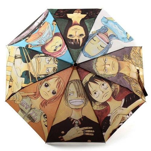 Cartoon One Piece Kids Umbrella Monkey D. Luffy Zoro Ace Gear Lover Rain Windproof Umbrella