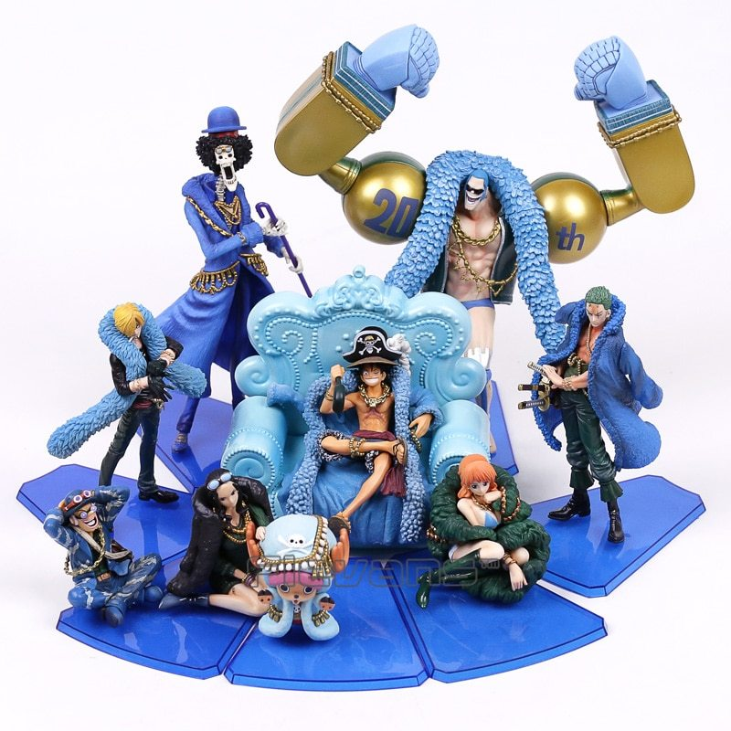 Anime One Piece 20th Anniversary Roronoa Zoro Blue Clothes Figure Toy New In Box