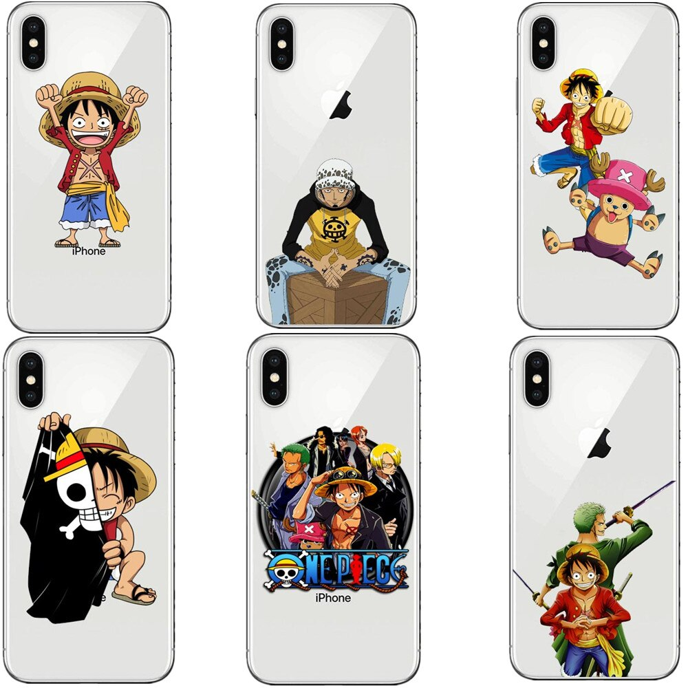 ONE PIECE Phone Case Japanese Anime Luffy Zoro Coque for Apple ...
