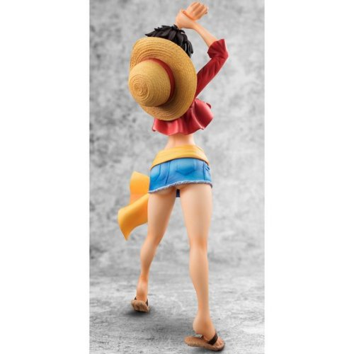 23cm One Piece Luffy Sexy Anime Action Figure PVC Collection Model toys for christmas gift Free shipping