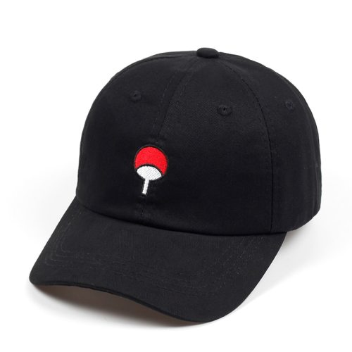 100% Cotton Japanese Anime Naruto Dad Hat Uchiha Family Logo Embroidery Baseball Caps Black Snapback Hat Hip Hop for Women Men