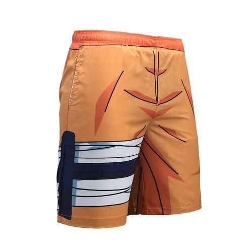 Summer new beach pants Uzumaki Naruto anime Naruto 3D printed swim trunks male Costume Anime Cosplay Unisex