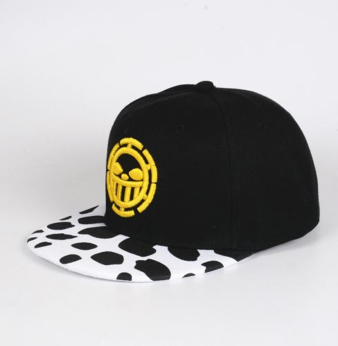 Anime One Piece Trafalgar Law Sign Skull Head Baseball Caps Sunhat Cosplay Hats