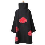 Anime NARUTO Akatsuki Uchiha Itachi Cosplay Costumes Unisex Kids Adults Ninja Cloak Jumpsuits Cloak+Headband Robe Suit P