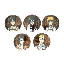 Attack on Titan Anime Badge Eren Jaeger Levi Ackerman Mikasa Armin Arlelt Erwin Smith Metal Badge