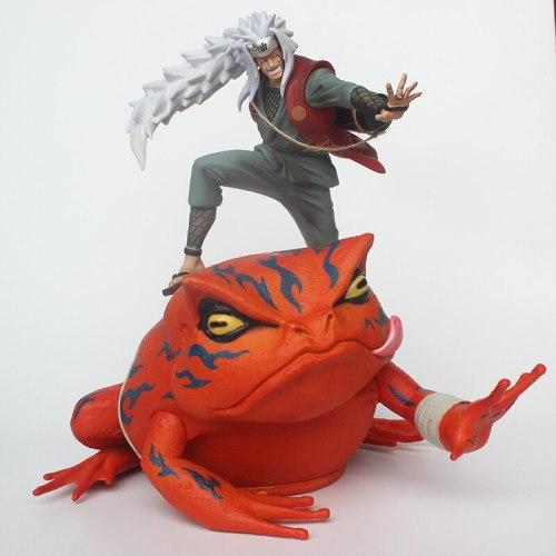 Anime NARUTO Jiraiya and Gama-Bunta PVC Figuine Gama Sennin GK statue for Collection Model Figure 29cm