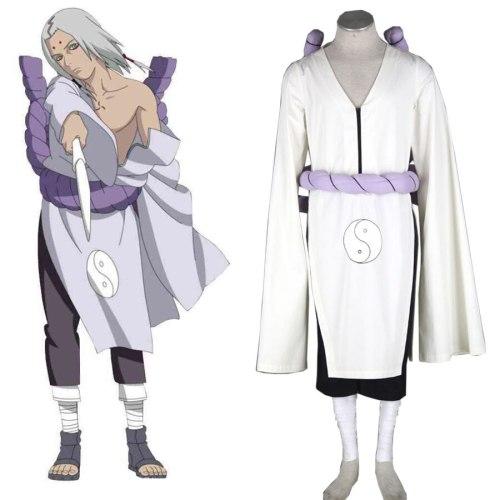 Free Shipping Naruto kaguya kimimaro Kimono Anime Cosplay Costume