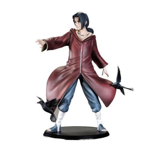 Anime NARUTO Uchiha Itachi Action Figure Toys Naruto Sharingan Uchiha Sasuke Brother Figurines Collectibles Gift Toys Model 20cm