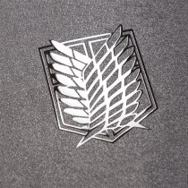 Attack on Titan Metal Stickers Scouting Legion Badge LOGO Wings of Freedom Personality Sticker For Luggage Laptop Phone Decor