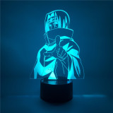 Anime Figure Uchiha Itachi Naruto Figure LED 3D Night Light 7Color Acrylic Naruto Figuras Led Desk Lamp Home Decor Kids Gift