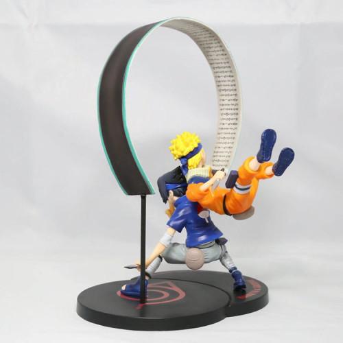 NEW hot 15cm Naruto Uchiha Sasuke Uzumaki Naruto Scene version action figure toys collection Christmas gift doll with box