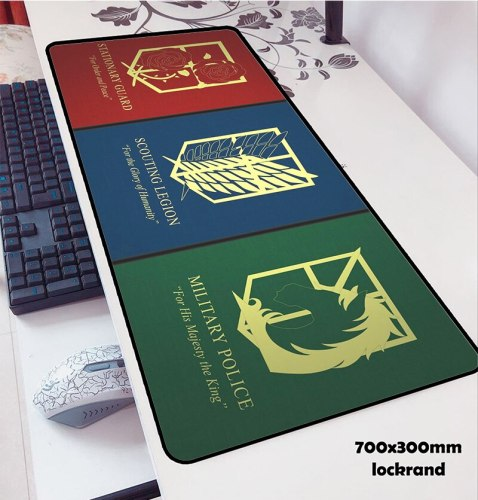 attack on titan padmouse 700x300x2mm pad mouse notbook computer mouse pad logo gaming mousepad gamer keyboard laptop mouse mats