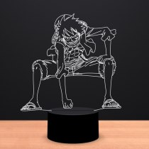 3D LED Touch Switch Night Light Anime One Piece Luffy Table Lamp USB 7 Colors Atmospheres Decor LED Lighting For Birthday Gifts