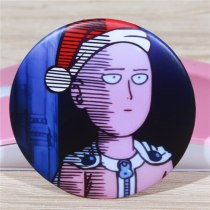 5.8cm Large Brooch One Punch Man Christmas Day Badge Boy Girl Cute Pin Russian Breastpin Spain Coin Icon Home Cloth Decor