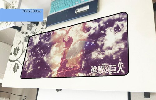 attack on titan mouse pad gamer Mass pattern 700x300x2mm notbook mouse mat gaming mousepad large cute pad mouse PC desk padmouse