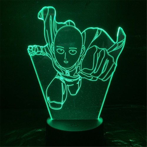 One Punch Man Night Lights Led Saitama Lampara Anime Lamp 3D Lighting Desk Lamp Kids Gift Color Changing Luminaria Toys