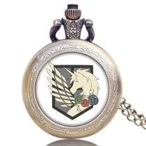 Steampunk Quartz Pocket Watch Attack on Titan Three Corps Flag Gifts Relogio Feminino Pocket Watch Vintage