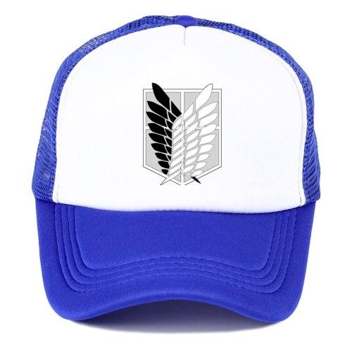 Anime Attack on Titan Cap Scout Regiment Scout Legion Symbol Black Mesh Cap Trucker Cap Baseball Cap Hat Cosplay Costume