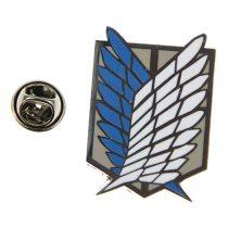 Shingeki No Kyojin Attack On Titan Recon Corps Logo Metal Emblem Badge Cosplay Free Shipping