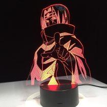 Naruto Night Light 7 Color Changing Led Kids Bedside Sasuke Modelling Lighting Fixtures 3D Visual Anime USB Desk Lamp Home Decor