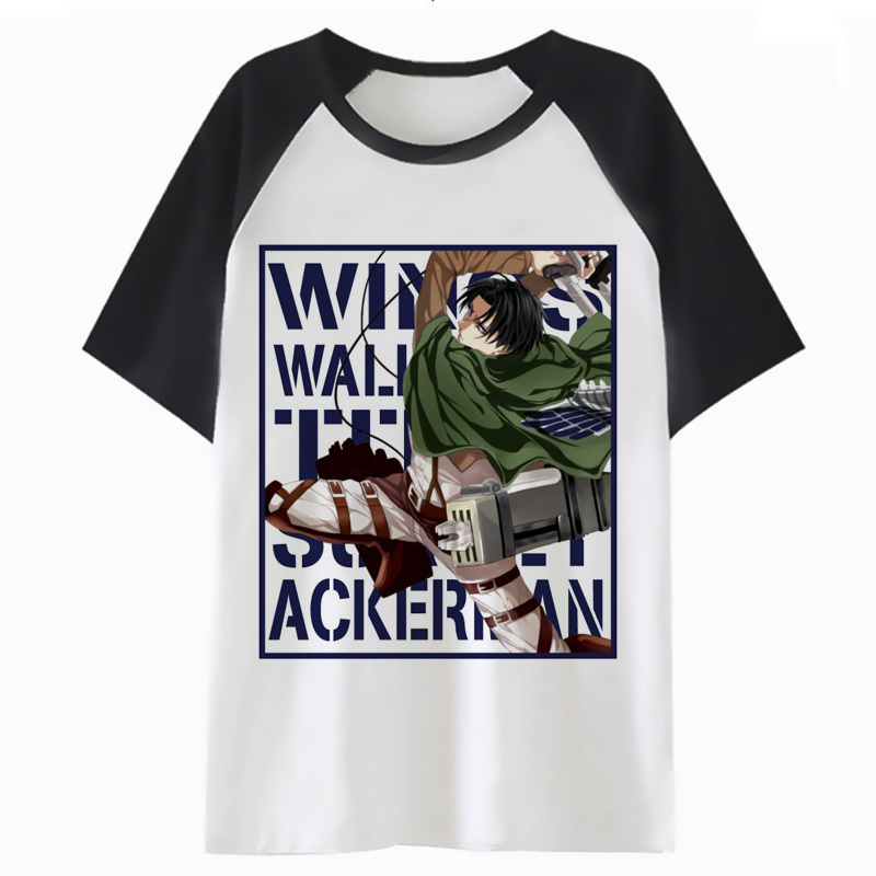 Anime Attack On Titan Wings of Liberty T-Shirt Men/'s Cotton Short Sleeve Tee Top