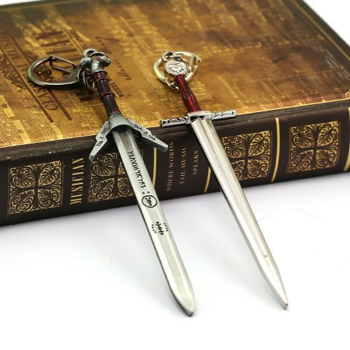 Game The Witcher 3 Keychain Geralt of Rivia Sword Metal Pendant Keyring Weapons Chaveiro Car Bag Figure Chaveiro For Men