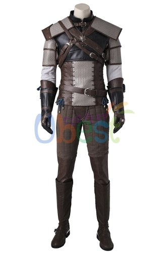 The Witcher 3 Wild Hunt Geralt of Rivia Cosplay Costume Halloween Hunter Outfit