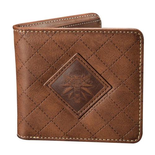 The Witcher 3 Wallet Wild Hunt Medallion Wolf Head PU Credit bag-Mens Wallet men card Holder