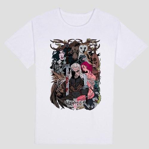 Game  Witcher 3 T Shirt Summer Cotton Short Sleeve